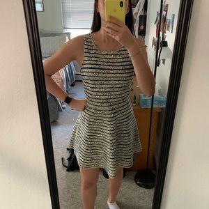 $285 Parker silk mesh print dress fit & flare S